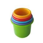 Educational Toys Kids Non-toxic Food Grade PP Plastic Stacked Cups Children Educational Stack Up Cups Baby Early Skills Stacking Cups Toys
