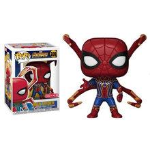 Disney Marvel FUNKO POP, фигурка, игрушки, ПВХ, Железный человек, Человек-паук, танос, супер герой, кукла, Коллекционная модель, игрушка для детей, подаро...(Китай)