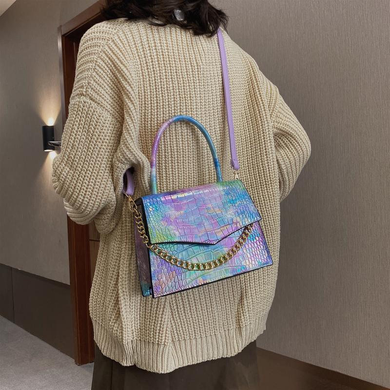 Multicolor Fashion Handbags Summer Women Shoulder Bag Jelly Crocodile Purse And Handbag 2021