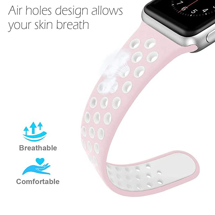 38mm/40mm 42mm/44mm Replacement Sport Silicone Watch Band Strap for Apple Watch Series 6 5 se 4 3 2 1