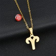 12 знаков зодиака скорпиона, колье золотого цвета из нержавеющей стали, колье-чокер, ювелирные изделия для женщин 2020(Китай)