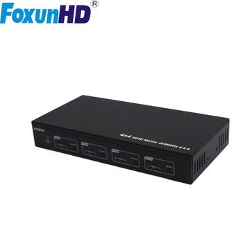 Foxun SX-MX09B Support Multiple Control cctv channel switcher 4K@60hz ,YUV4:4:4 hdmi matrix 4x4