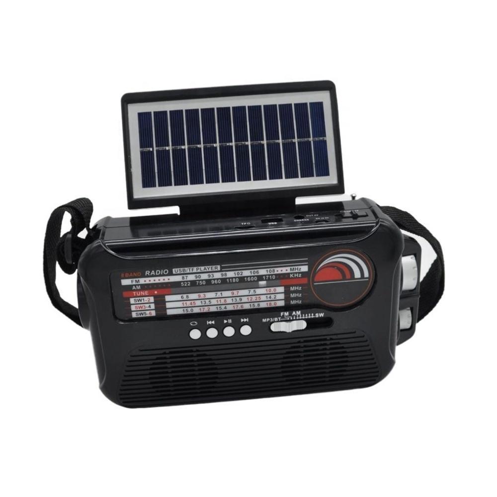 cmik mk-192 china plastic shortwave antique long range old other am fm sw1-6  solar crank light blue tooth home portable radio