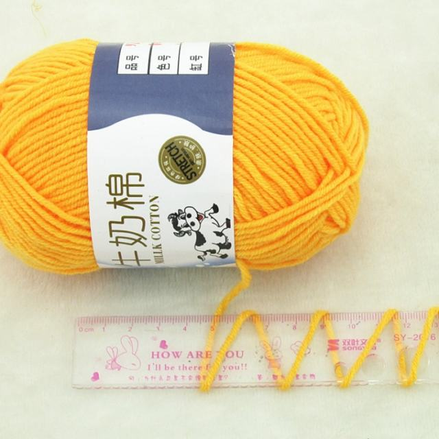 Factory direct supplier cotton yarn blended milk cotton acrylic yarn for crochet and knitting