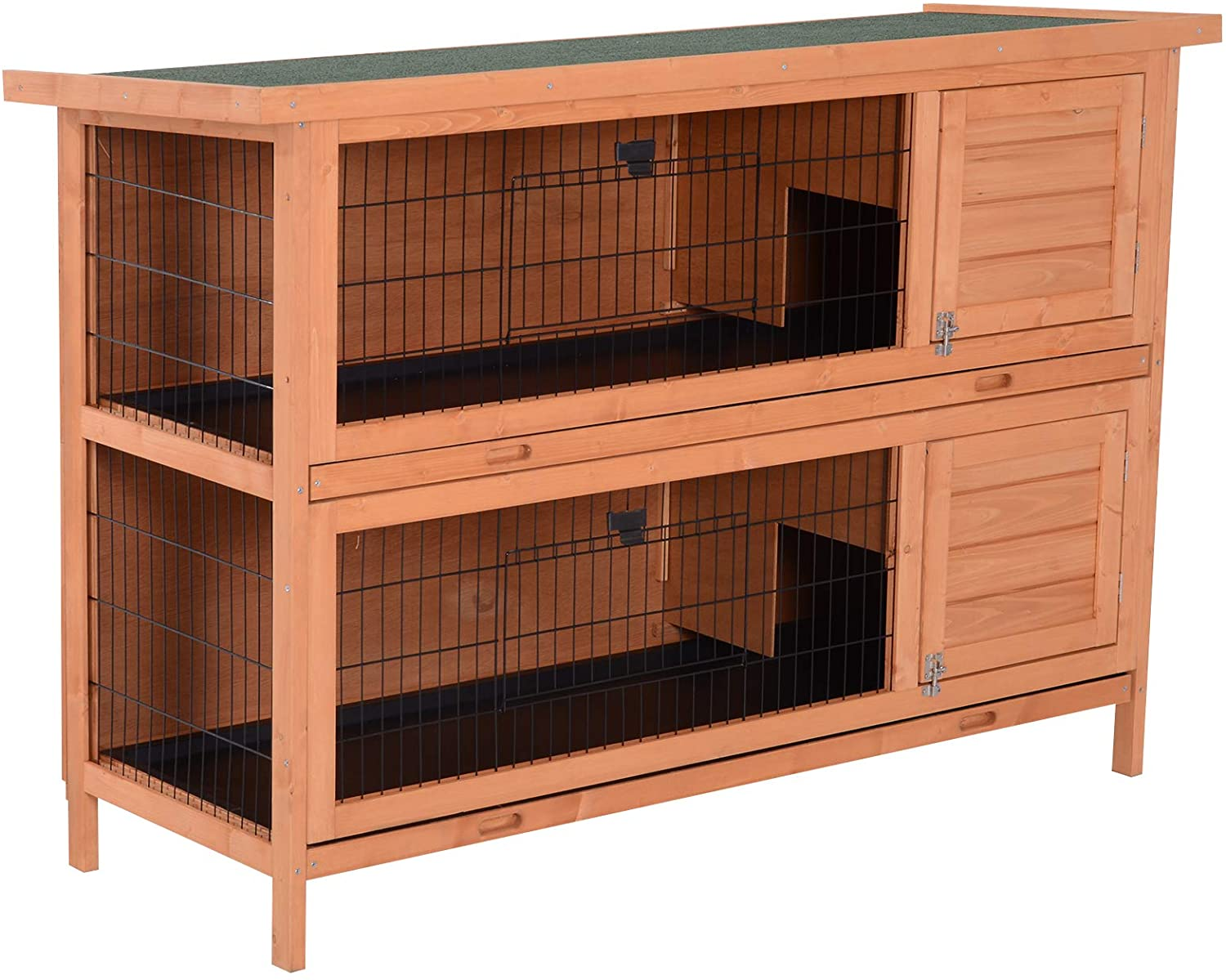Outdoor Wooden Rabbit Hutches Small Animal Cage With Trays Pet ...