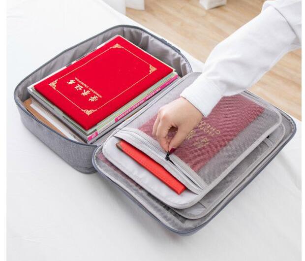 Многослойная Сумка для хранения документов, чехол с замком для документов и документов, офисный держатель для файлов