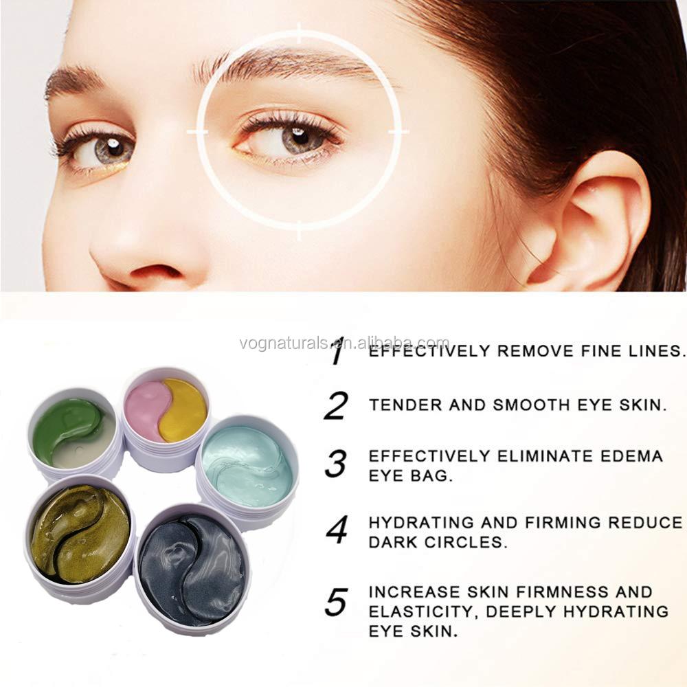 OEM ODM Высокое качество Уход за глазами маска для глаз гель для темных кругов против морщин маска для глаз