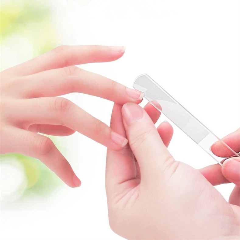 Нано-стекло пилки для ногтей шлифовальный буфер для ногтей инструмент для маникюра полировка с коробкой прозрачные шлифовальные инструменты