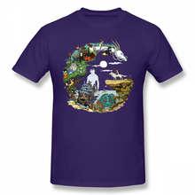 Hayao miyazaki футболка hayao miyazaki аниме футболка с коротким рукавом 100% хлопок футболка забавная уличная футболка с графикой(Китай)