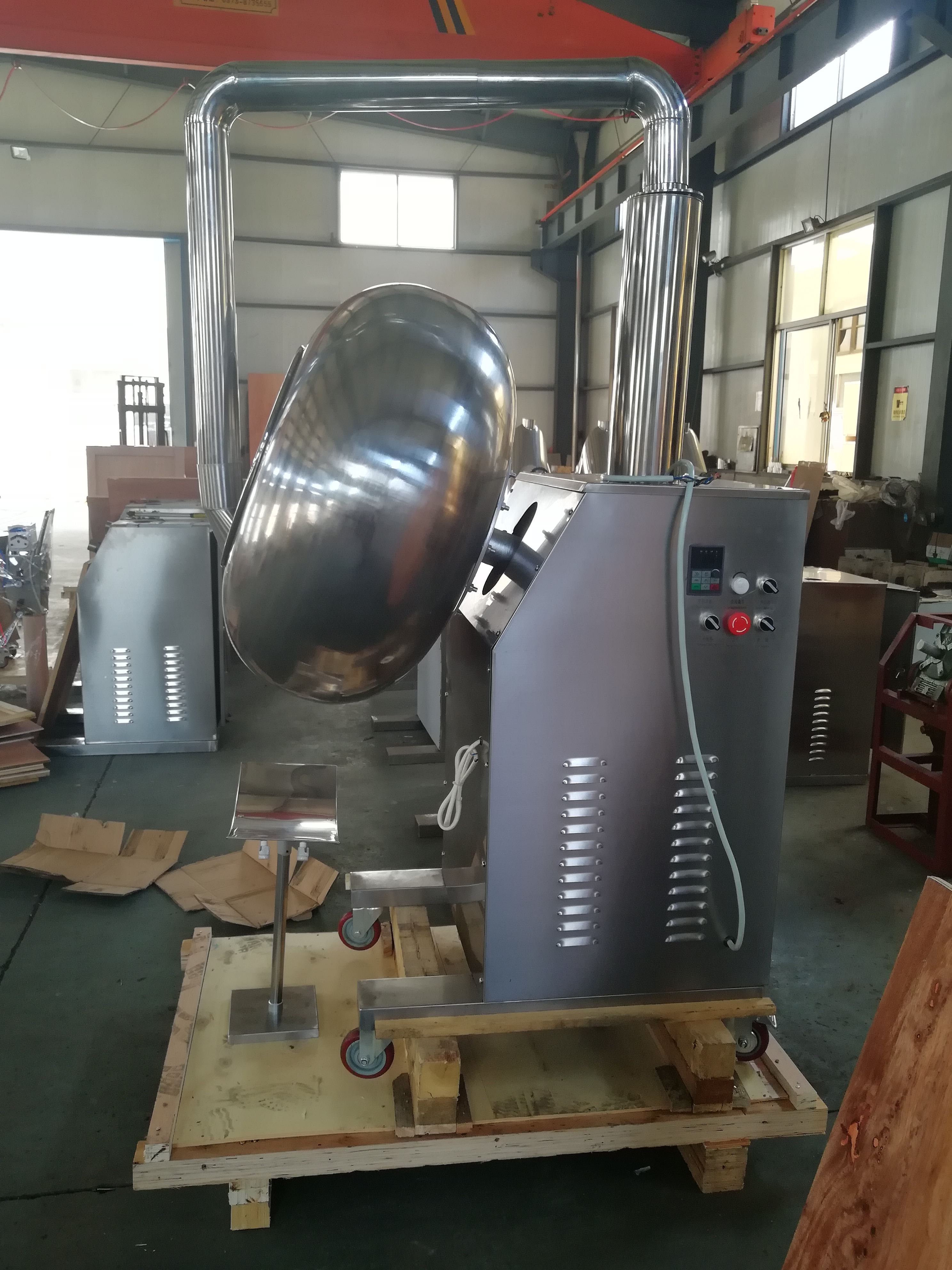 Easy Operation Drum Table Seed Coater Lab Nuts Sugar Polisher Machine Chocolate Coating Machine BY-1000