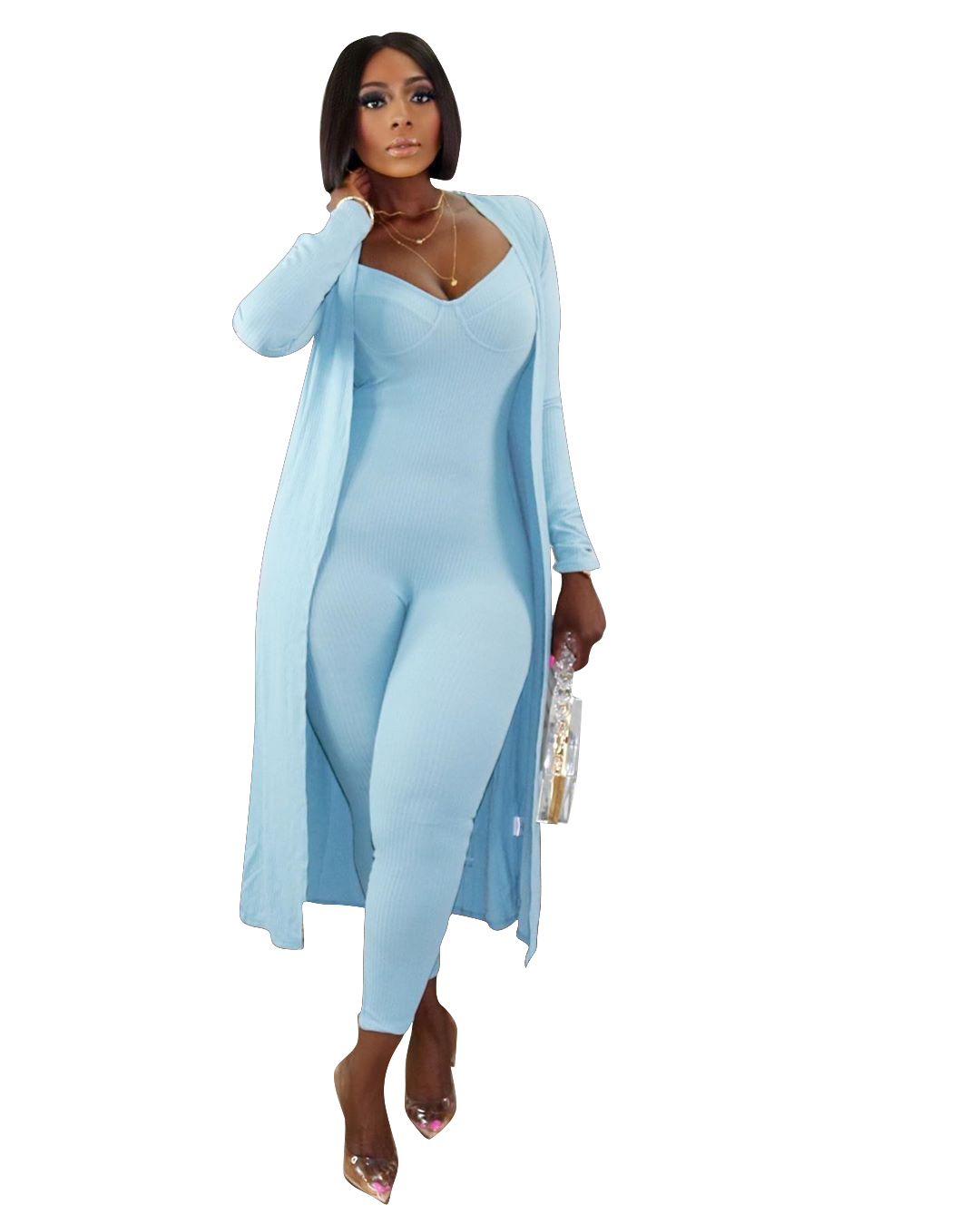 foma-TS1068 womens fall clothing 2020 long sleeve two piece women outfit with cover bodysuit vendors clothing