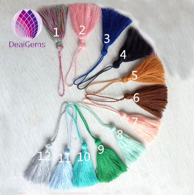 Цветная мини-закладка-кисточка из хлопка ручной работы оптом