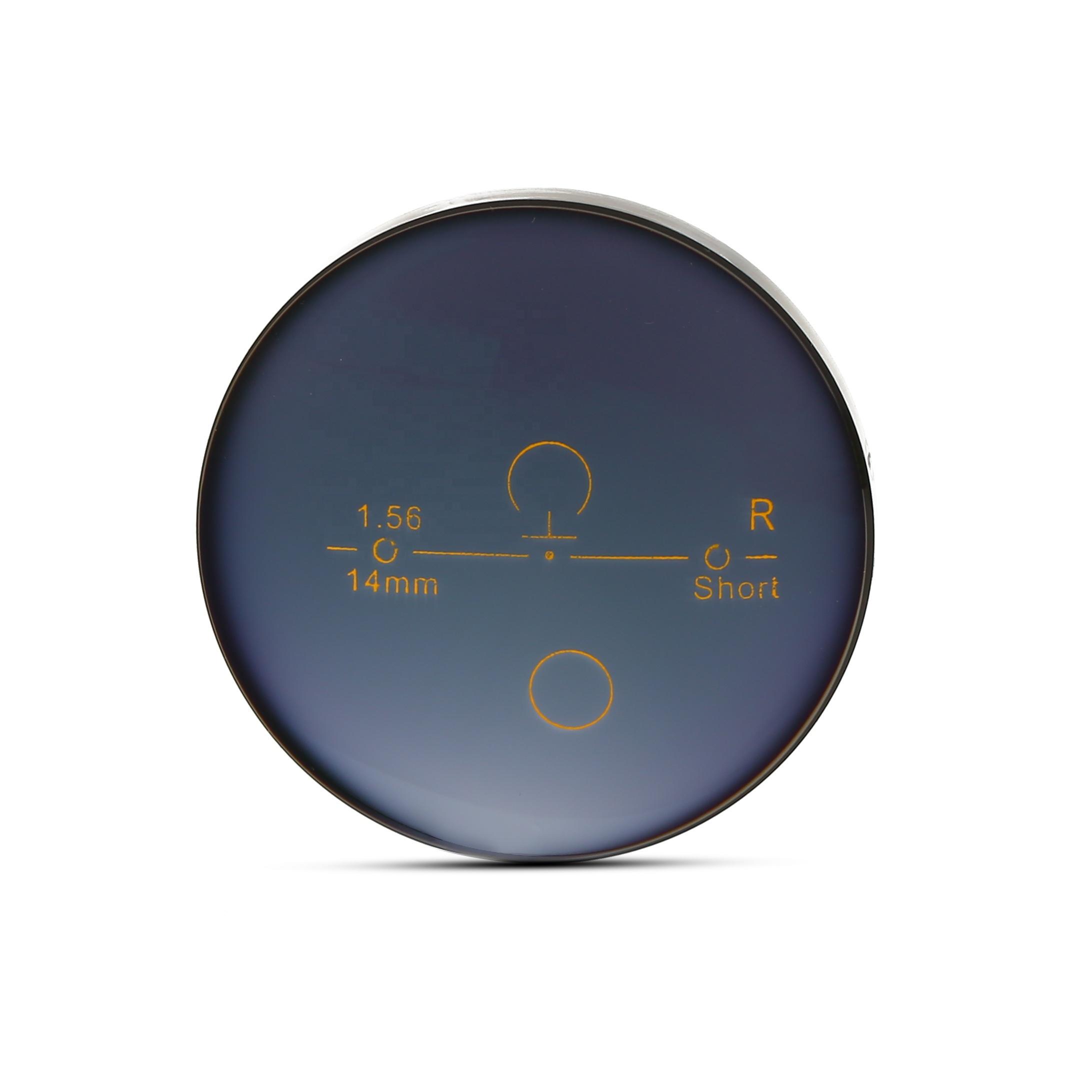 Progressive 1.56 grey colored photochromic lenses