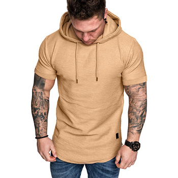 BL21H1089 2021 popular style new arrival hot sale breathable with drawstring khaki men hoodies slim fit