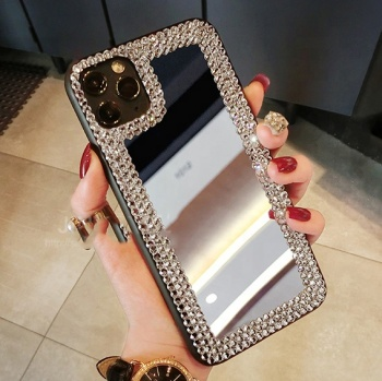 Rhinestone Case For apple 11pro X XS MAX 7p 8plus 6p 6S plus XR Tempered Glass Coque phone case
