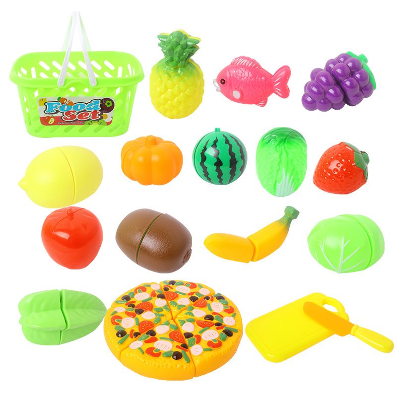 New arrival Wholesale Pretend Play Kitchen Food Toys Cutting Fruit Toy for Kids