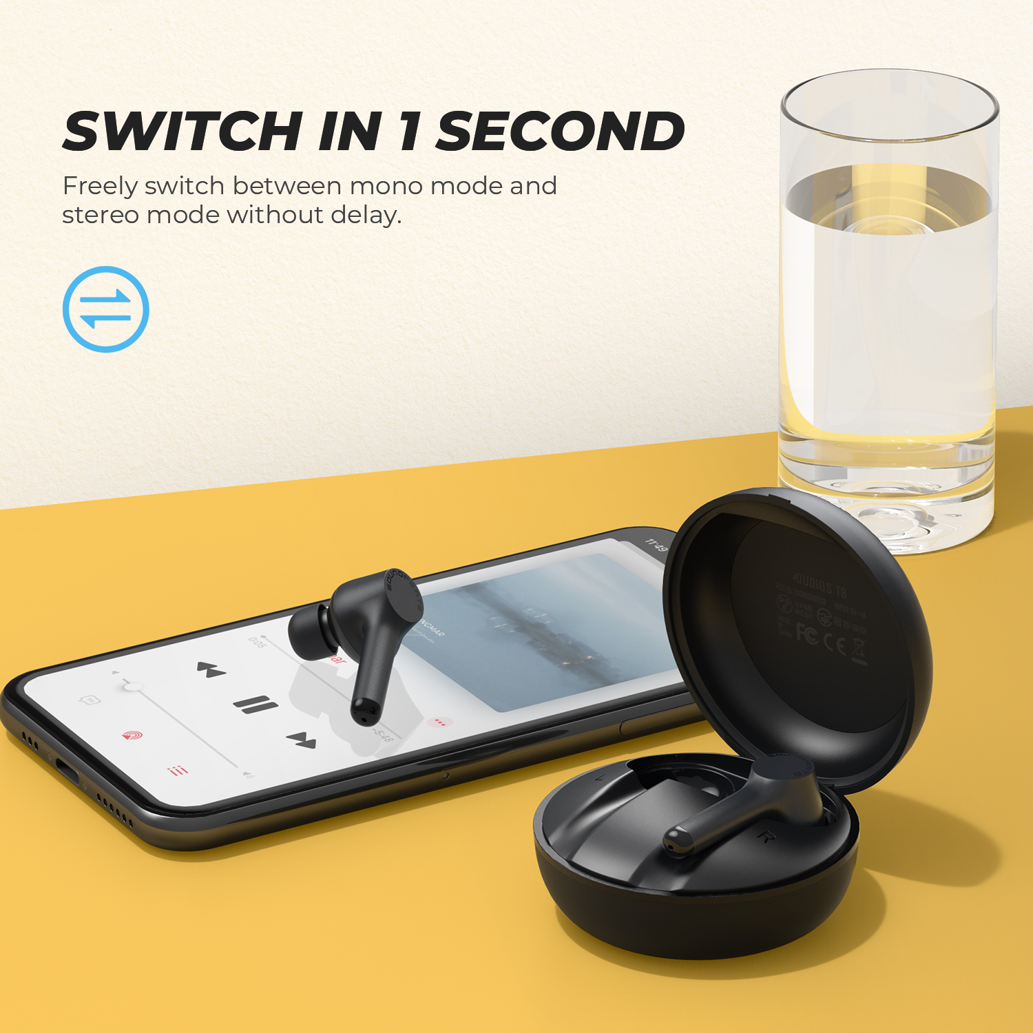 Soundpeats Mac 2021 New Tws Ipx7 Waterproof Earphone Audifono Bluetooth Headset Touch Wireless Earbuds with Charging Case