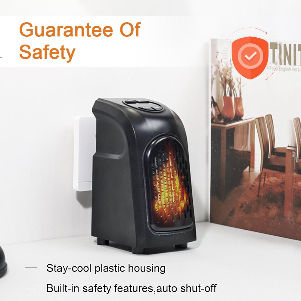 Personal Ceramic Space Heater Wall Mounted Electric Mini Fan Heater