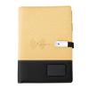 Gold wireless power bank notebook+pen