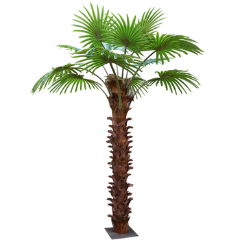 3m high Factory price large outdoor/indoor artificial palm tree leaves plants for garden decoration