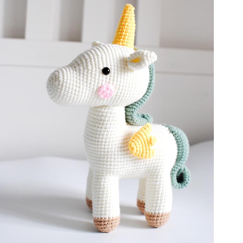 2020 Wholesale High Quality New Fashion Cute Stuffed Animals Plush Crochet Dolls Creative Design Handmade Unicorn Toys