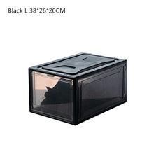 1 шт. боковая Магнитная коробка для обуви большой емкости ящик для обуви прозрачная пластиковая коробка для хранения обуви Органайзер для б...(Китай)