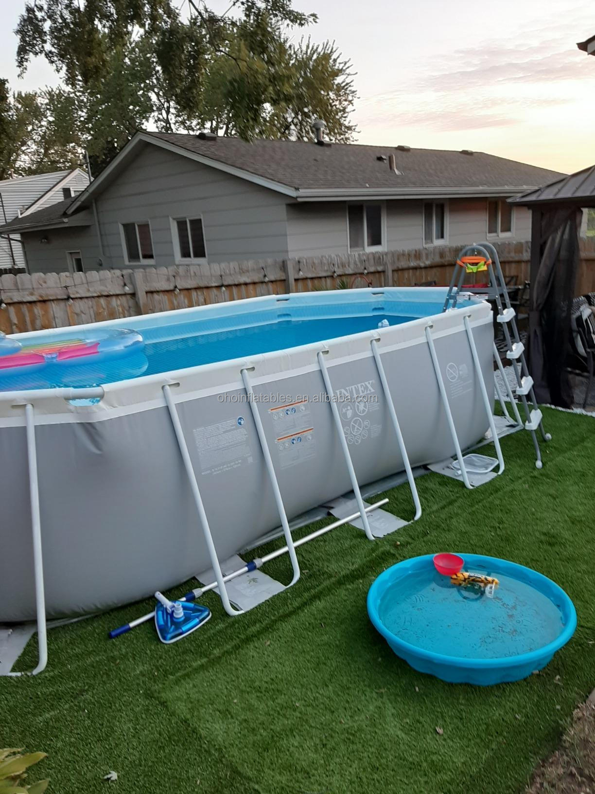 Rectangular Metal Frame Swimming Pool Steel Above Ground Training Pool Outdoor Pvc Water Park Pool For Home Use Buy Rectangular Metal Frame Swimming Pool For Indoor Outdoor Above Ground Training Pool For