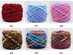 Chenille Yarn 100% Polyester Vegan Chunky Yarn Jumbo Yarn Knitting Materials for Knitting Scarves Blankets