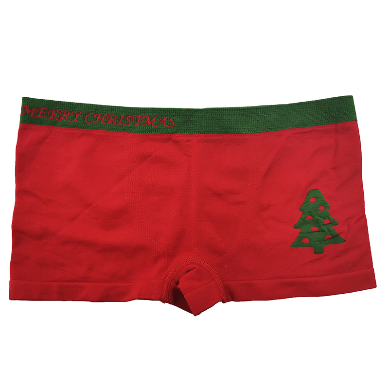 Manufacturer Teen Underwear Boys Red Christmas Pattern Boys Boxer Briefs All-day Comfort Seamless Boxer For Kids Boy