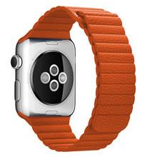 Кожаный ремешок для часов Apple Watch 44 мм 40 мм 38 мм 42 мм Замена для iwatch 5 4 3 2 Магнитная кожаная Петля для Apple Watch Bands(Китай)