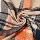 Scarf Designer Scarf Custom Women Winter Pashmina Scarf Hot Sale Wholesale Acrylic Orange Checked Scarves Shawl For Ladies