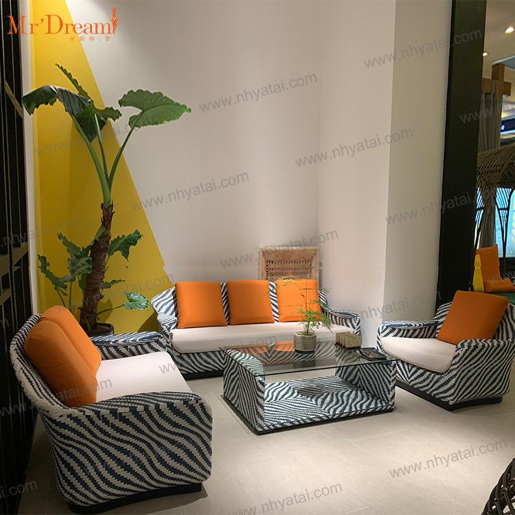 Дубай, Высококачественный новый дизайн, литой алюминий, Хилтон, набор мебели для отеля, диван