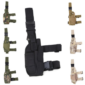 Outdoor Military Hunting Camping Molle 600D Oxford Tactical Drop Leg Pistol Holster with Adjustable Belt Thigh Straps
