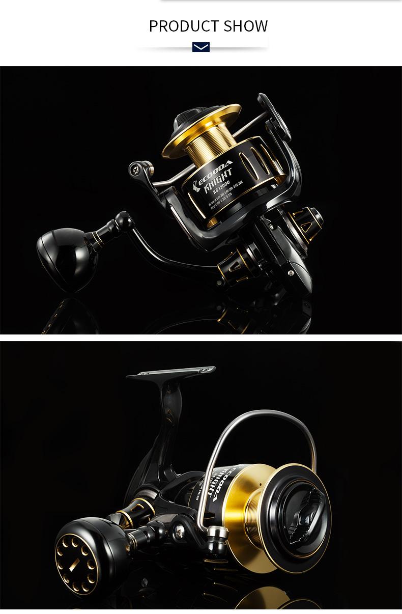Ecooda Knight Big Drag Power Spining Reel Fishing 8000/12000/20000 Fishing Reels Saltwater Spinning