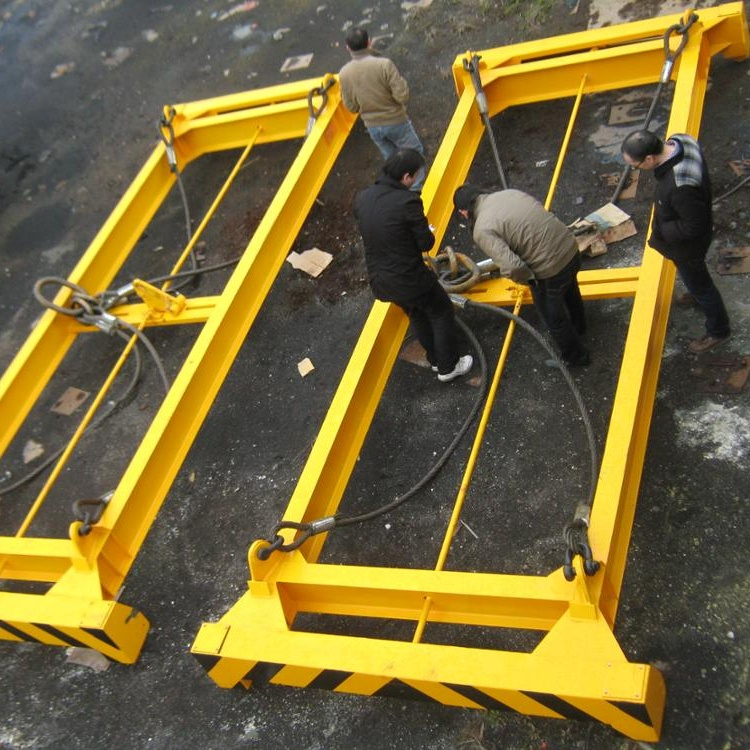 semi-automatic container spreader lifting beam spreader 40ft 20ft ISO container