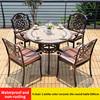 5-4 стула 1 белого цвета керамическая плитка таблицы D80cm