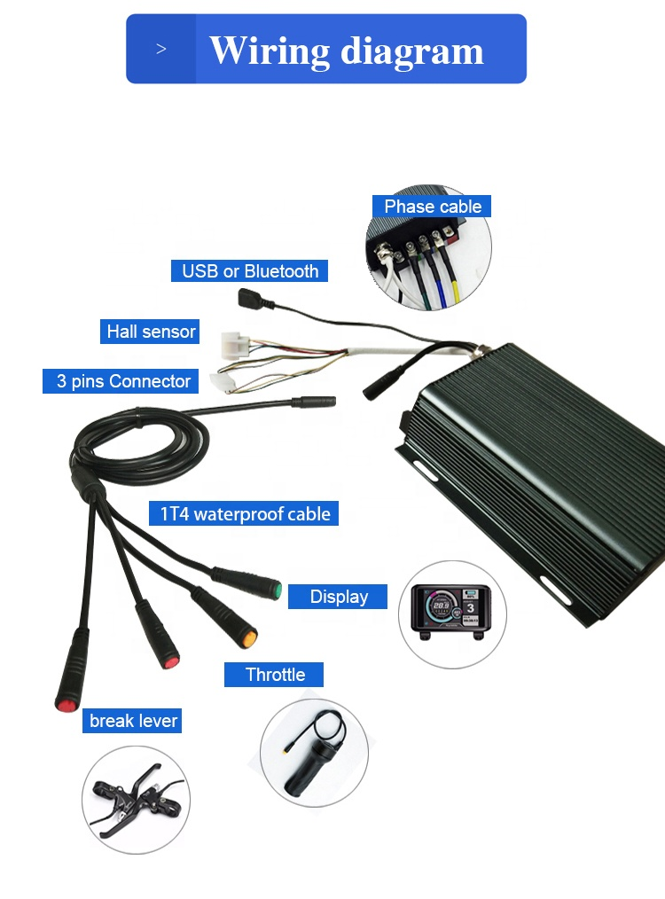 Power 12kw QS V3 5000W rear brushless hub motor ebike kit with sabvoton controller can be programmable
