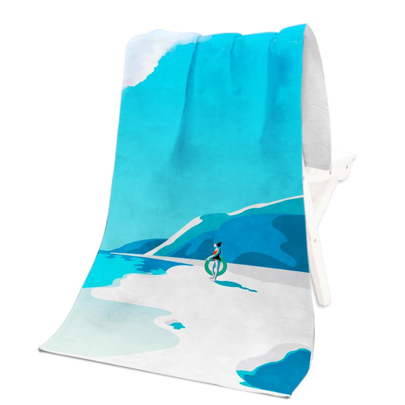 Фабричное полотенце с сублимационной печатью 70*140 см, машинная стирка, пляжное полотенце из микрофибры на заказ от производителя