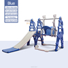 Blue slide swing