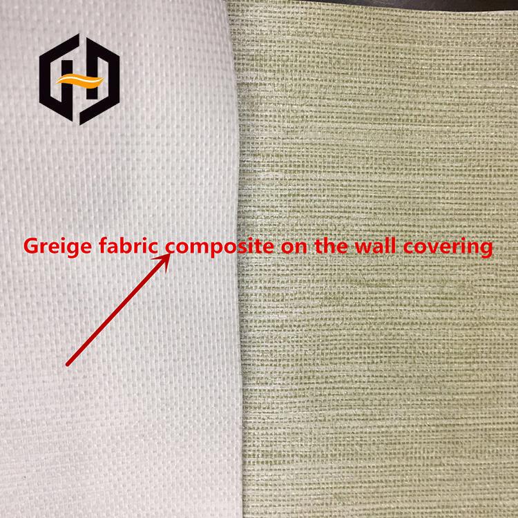 Большой рулон упаковки тканый простой серый материал для ПВХ винилового покрытия стен