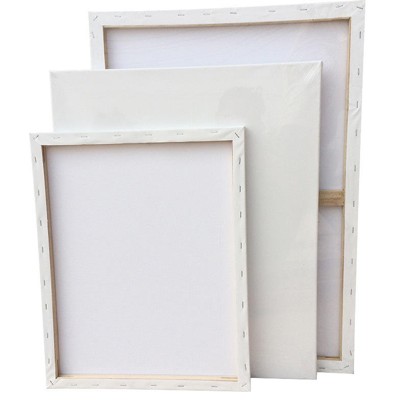 BOMEIJIA 280g Pure cotton blank stretched artist oil painting canvas, for oil painting and acrylic painting canvas