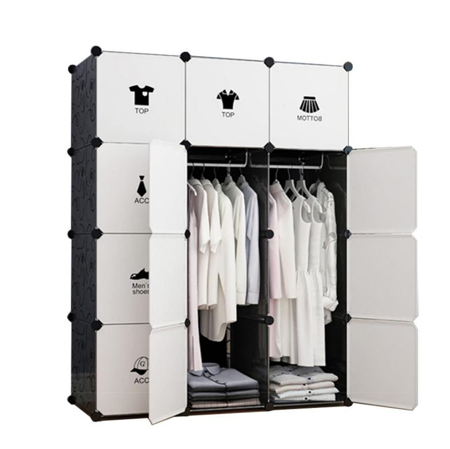 Cube Portable Wardrobe for Hanging Clothes, Combination Armoire, Modular Cabinet for Space Saving