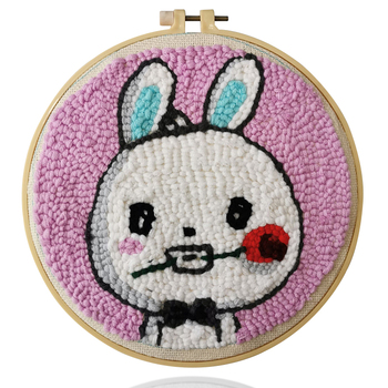 Hot sale promotional craft children diy lovely rabbit cross-stitch kits