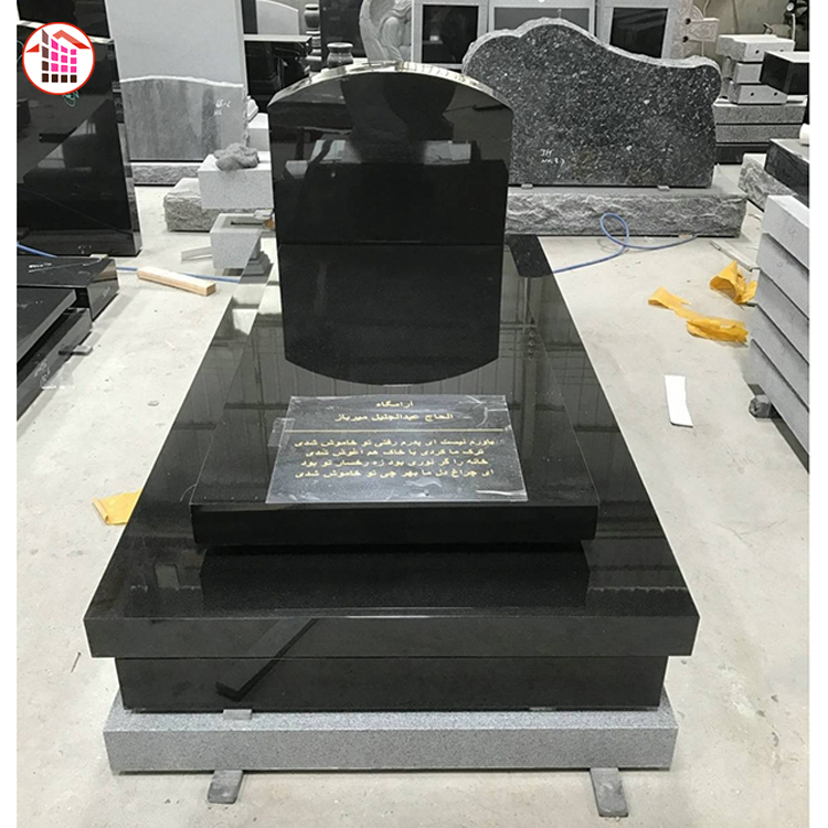 Опт черный гранитный надгробный камень Южная Африка Цветочная кровать дизайн гранит дешевые надгробные плиты в Zimbabwe Вие