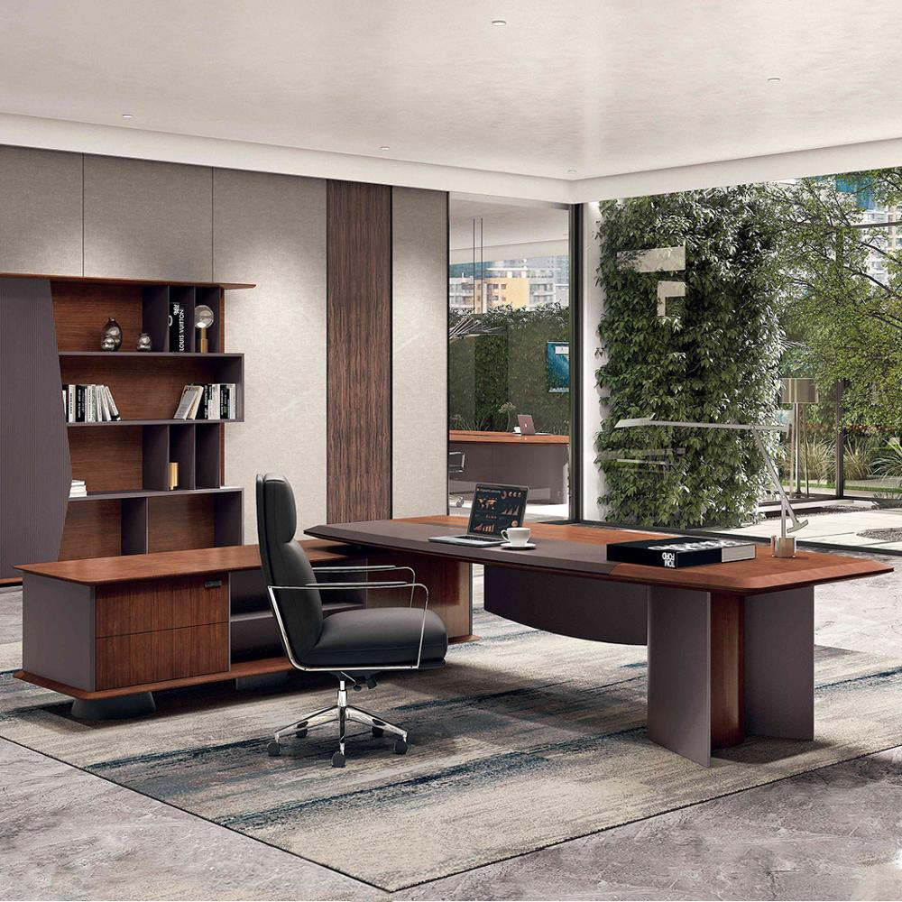 HDF MDF wooden panel luxury office table executive ceo desk office desk