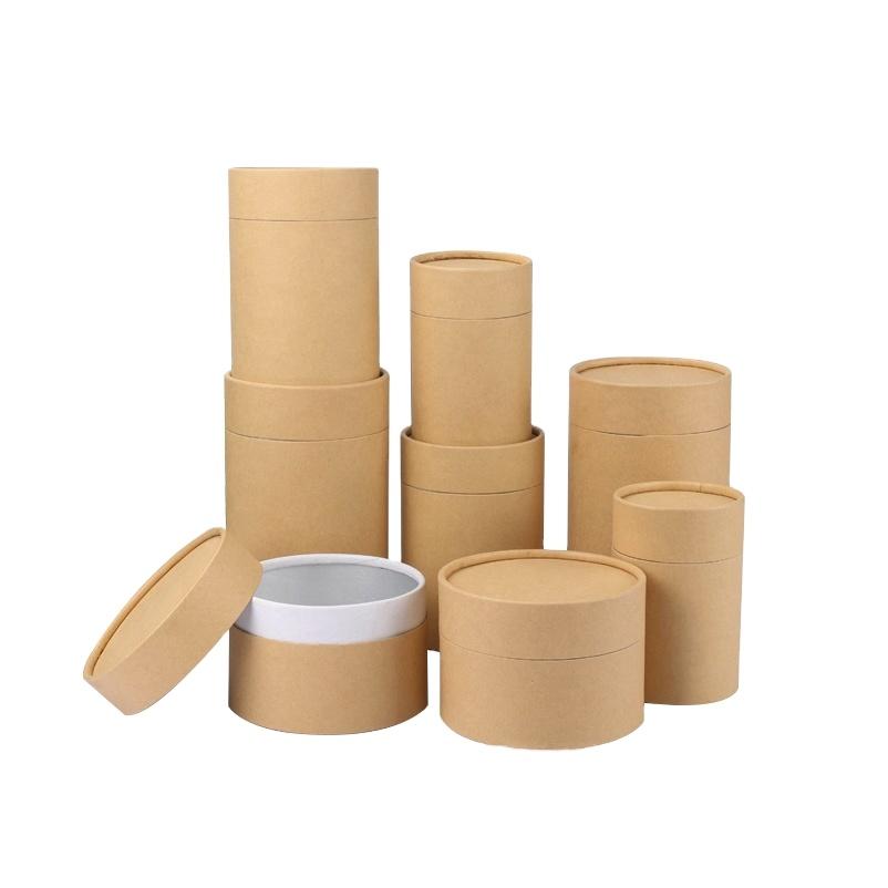 Круглый цилиндр пищевого картона чай на заказ Печать упаковки чая бумажная трубка