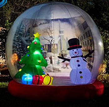 Life Size Clear Inflatable Dome Xmas Inflatable Snow Globe