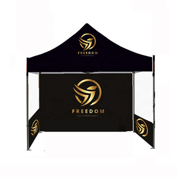 Shop 3x3m tent frame +canopy +1pc single side full wall+2pcs single side half wall advertising promotion event custom tent