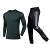 green shirt with black white pants
