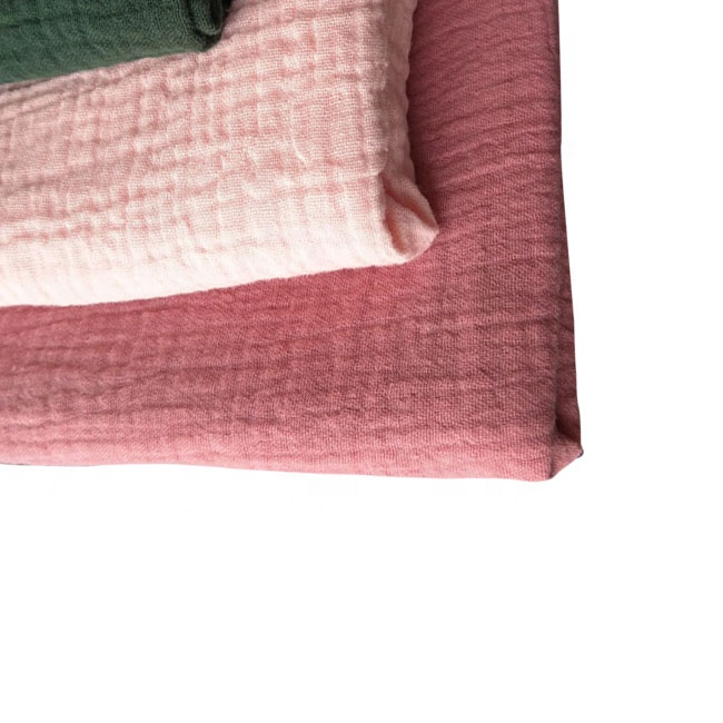 cotton baby double gauze muslin crinkle fabric